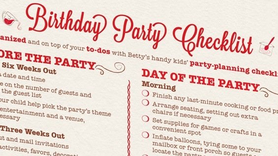 21st Birthday Party Checklist